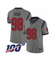 Men's Houston Texans #98 D.J. Reader Limited Gray Inverted Legend 100th Season Football Jersey