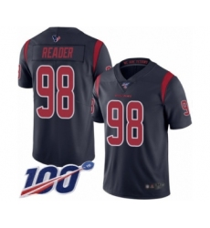 Men's Houston Texans #98 D.J. Reader Limited Navy Blue Rush Vapor Untouchable 100th Season Football Jersey