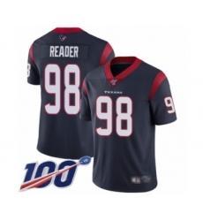 Men's Houston Texans #98 D.J. Reader Navy Blue Team Color Vapor Untouchable Limited Player 100th Season Football Jersey