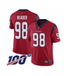 Men's Houston Texans #98 D.J. Reader Red Alternate Vapor Untouchable Limited Player 100th Season Football Jersey