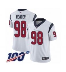 Men's Houston Texans #98 D.J. Reader White Vapor Untouchable Limited Player 100th Season Football Jersey