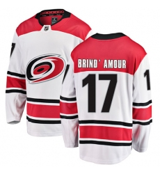 Youth Carolina Hurricanes #17 Rod Brind'Amour Fanatics Branded White Away Breakaway NHL Jersey
