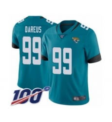 Men's Jacksonville Jaguars #99 Marcell Dareus Teal Green Alternate Vapor Untouchable Limited Player 100th Season Football Jersey
