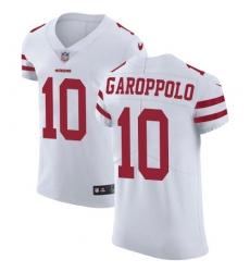 Men's Nike San Francisco 49ers #10 Jimmy Garoppolo White Vapor Untouchable Elite Player NFL Jersey