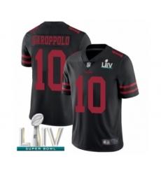 Men's San Francisco 49ers #10 Jimmy Garoppolo Black Alternate Vapor Untouchable Limited Player Super Bowl LIV Bound Football Jersey