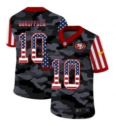 Men's San Francisco 49ers #10 Jimmy Garoppolo Camo Flag Nike Limited Jersey