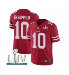 Men's San Francisco 49ers #10 Jimmy Garoppolo Red Team Color Vapor Untouchable Limited Player Super Bowl LIV Bound Football Jersey