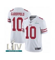 Men's San Francisco 49ers #10 Jimmy Garoppolo White Vapor Untouchable Limited Player Super Bowl LIV Bound Football Jersey