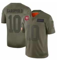 Women's San Francisco 49ers #10 Jimmy Garoppolo Limited Camo 2019 Salute to Service Football Jersey