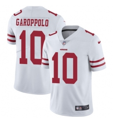 Youth Nike San Francisco 49ers #10 Jimmy Garoppolo White Vapor Untouchable Limited Player NFL Jersey