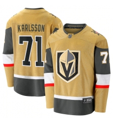 Men's Vegas Golden Knights #71 William Karlsson Fanatics Branded Gold 2020-21 Alternate Premier Breakaway Player Jersey