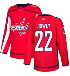Men's Adidas Washington Capitals #22 Madison Bowey Premier Red Home NHL Jersey