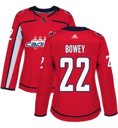 Women's Adidas Washington Capitals #22 Madison Bowey Premier Red Home NHL Jersey