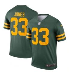 Men's Green Bay Packers #33 Aaron Jones Nike Green Alternate Legend Player Jersey