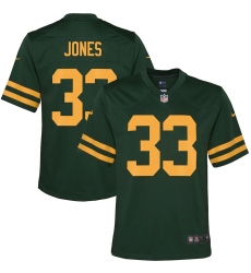 Youth Green Bay Packers #33 Aaron Jones Nike Green Alternate Game Player Jersey