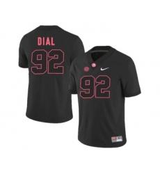 Alabama Crimson Tide 92 Quinton Dial Black College Football Jersey
