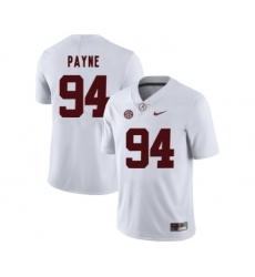 Alabama Crimson Tide 94 Da'Ron Payne White College Football Jersey