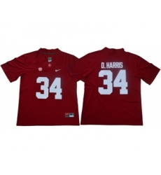 Crimson Tide #34 Damien Harris Red Limited Stitched NCAA Jersey