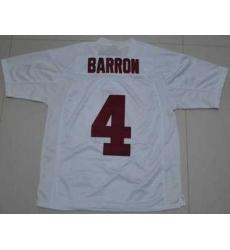 Crimson Tide #4 Mark Barron White Embroidered NCAA Jersey