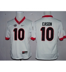 Georgia Bulldogs 10 Jacob Eason White Youth College Football Jersey