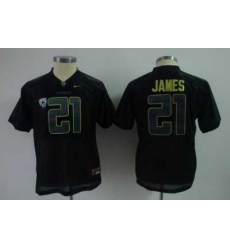 Youth Kids NCAA Oregon Ducks 21 LaMichael James black Jersey