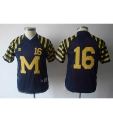 Youth NCAA Michigan Wolverines Denard Robinson 16 Under The Lights College Football Jersey