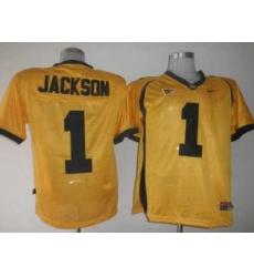 Golden Bears #1 DeSean Jackson Gold Embroidered NCAA Jersey