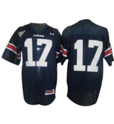 Tigers #17 Blue Embroidered NCAA Jersey