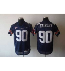 Tigers #90 Fairley Blue Embroidered NCAA Jersey