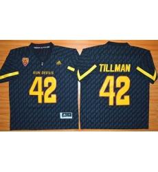 Arizona State Sun Devils #42 Pat Tillman New Black Stitched NCAA Basketball Jersey