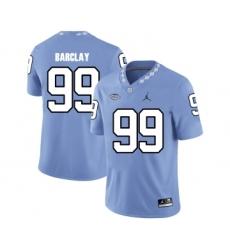North Carolina Tar Heels 99 George Barclay Blue College Football Jersey