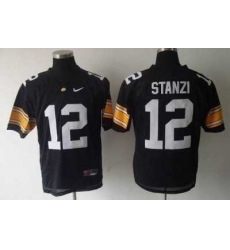 Hawkeyes #12 Stanzi Black Embroidered NCAA Jersey