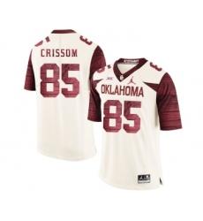 Oklahoma Sooners 85 Geneo Grissom White 47 Game Winning Streak College Football Jersey