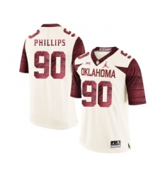Oklahoma Sooners 90 Jordan Phillips White 47 Game Winning Streak College Football Jersey