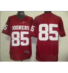 Sooners #85 Red Embroidered NCAA Jersey