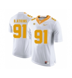 Tennessee Volunteers 91 Doug Atkins White College Football Jersey