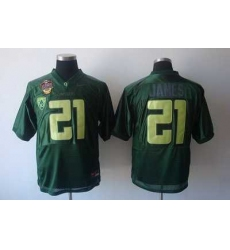 Ducks #21 LaMichael James Green Embroidered NCAA Jersey