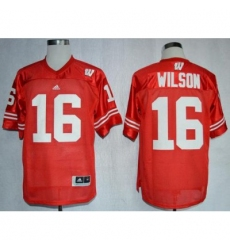 Wisconsin Badgers #16 Russell Wilson Red NCAA Jersey
