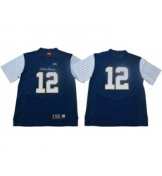 Fighting Irish #12 Ian Book Navy Strip Limited Shamrock Series Stitched NCAA Jersey