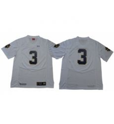 Fighting Irish #3 Joe Montana White Limited Stitched NCAA Jersey