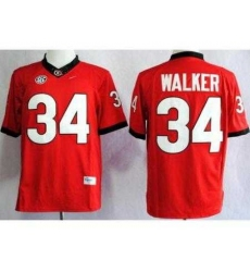 Georgia Bulldogs 34 Herschel Walker Red Limited NCAA Jerseys
