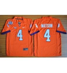 Youth Clemson Tigers #4 Deshaun Watson Orange 1975-1978 Fuller Stitched NCAA Jersey