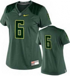 NEW Women Oregon Ducks Green #6 NCAA Jerseys