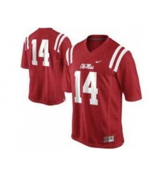 Ole Miss Rebels 14 Bo Wallace Red College Football NCAA Jerseys