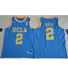 UCLA Bruins #2 Lonzo Ball Blue Authentic Basketball Stitched NCAA Jersey