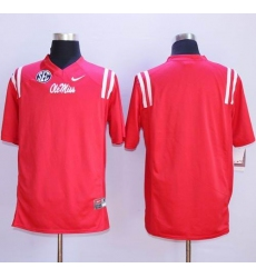 Durable Rebels Blank Red Stitched NCAA Jersey