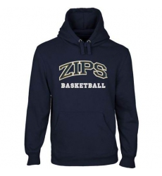 Akron Zips Navy Blue Custom Sport Arch Applique Pullover Hoodie
