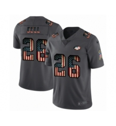 Men's New York Jets #26 Le'Veon Bell Limited Black USA Flag 2019 Salute To Service Football Jersey