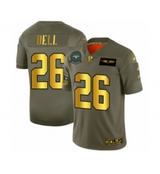 Men's New York Jets #26 Le'Veon Bell Limited Olive Gold 2019 Salute to Service Football Jersey