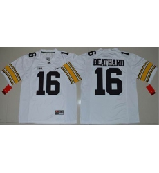 Iowa Hawkeyes #16 C. J. Beathard White Stitched NCAA Jersey